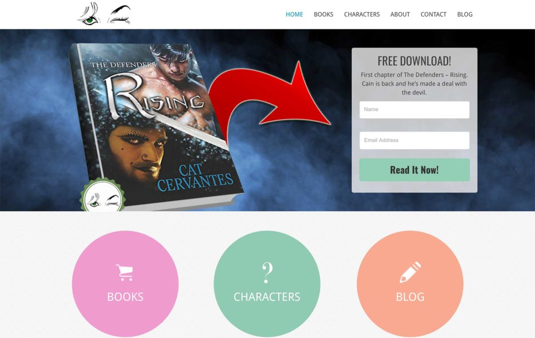 book author website design