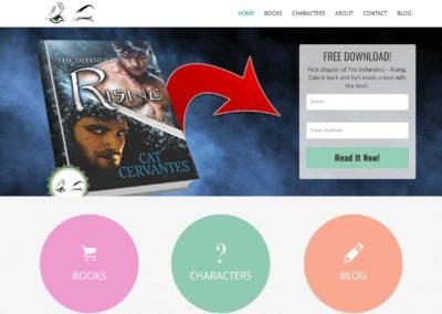 Book Author Website Design