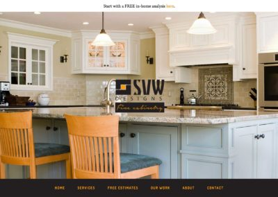Cabinet Company Website Design