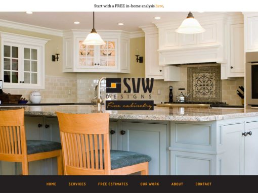 Cabinet Company Website Design