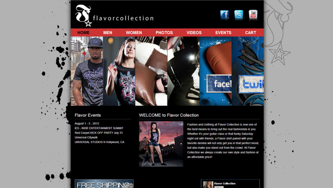 Clothing Company Website Design