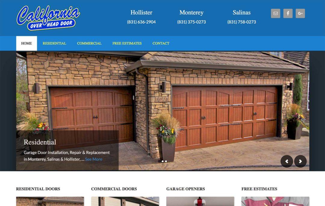 Garage Door Service Website Design