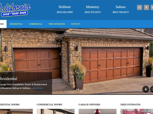 Garage Door Service Website Design