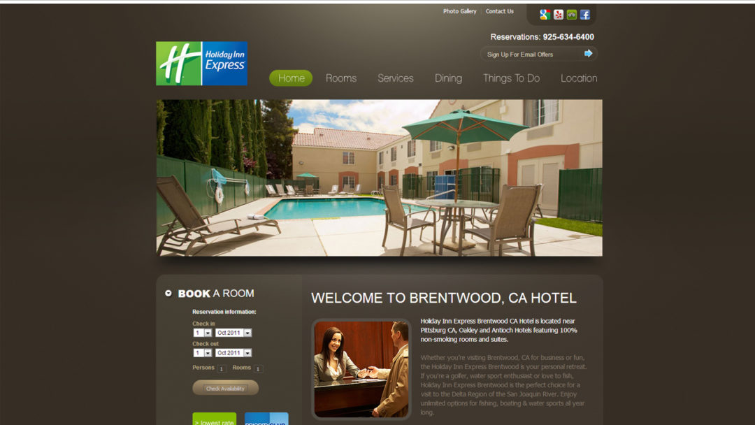 Holiday Inn Website Design