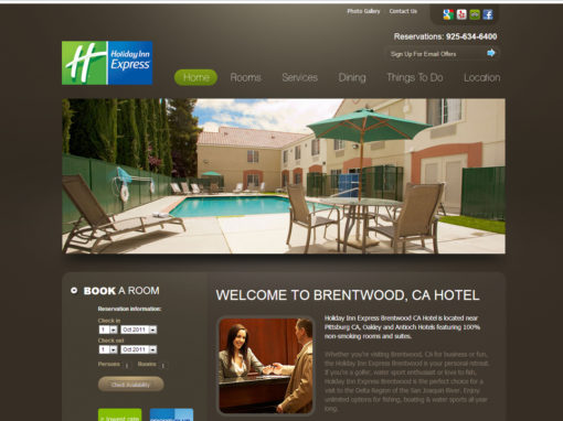 Holiday Inn Website Design