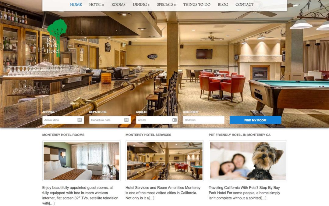 Hotel Marketing Website Design