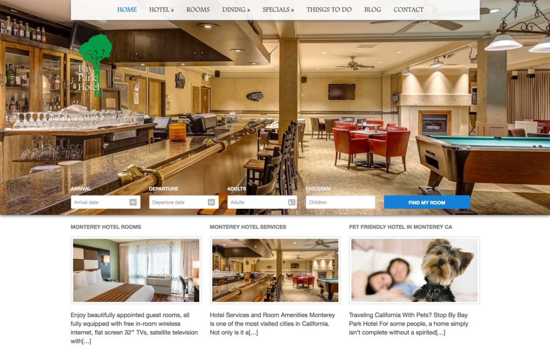 Hotel Marketing Website Design