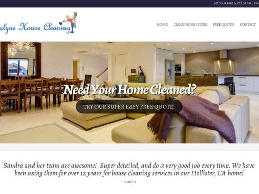 House Cleaning Website Design