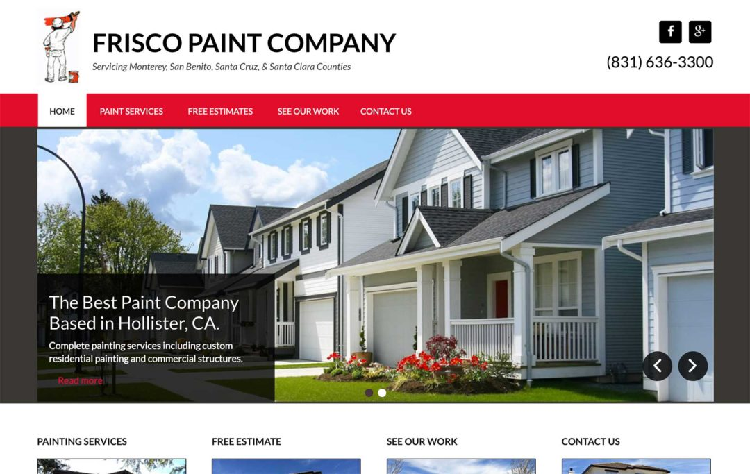 Paint Company Website Design