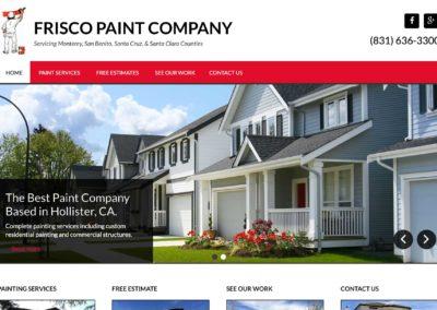 Paint Company Website Design