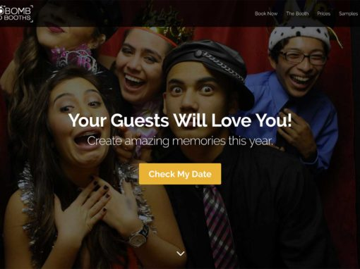 Photo Booth Website Design