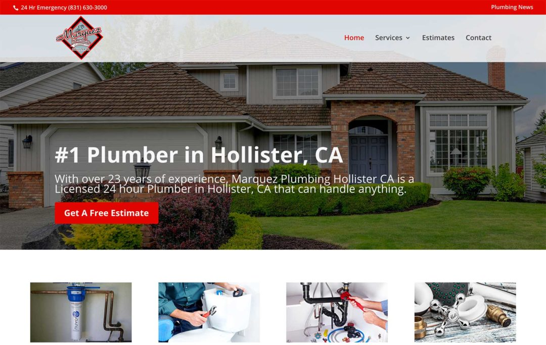 Plumbing Business Website Design