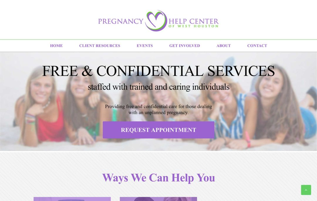 Pregnancy Center Website Design