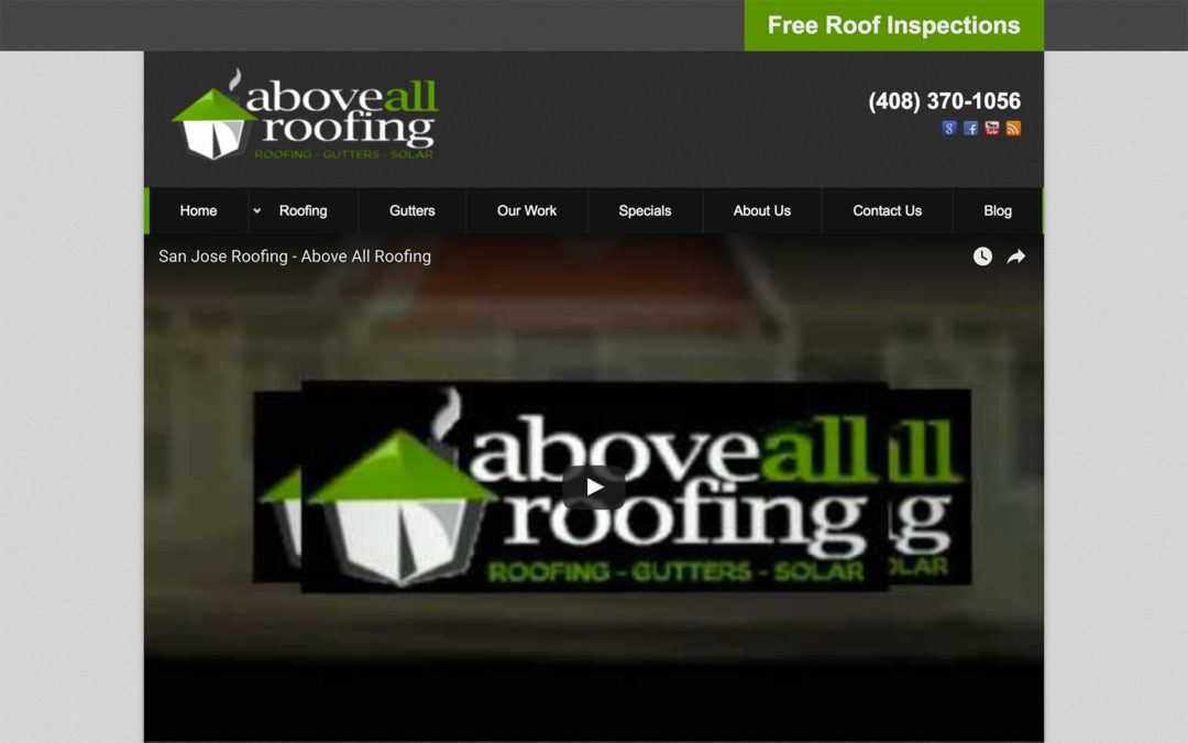 Roofing Company Website Design