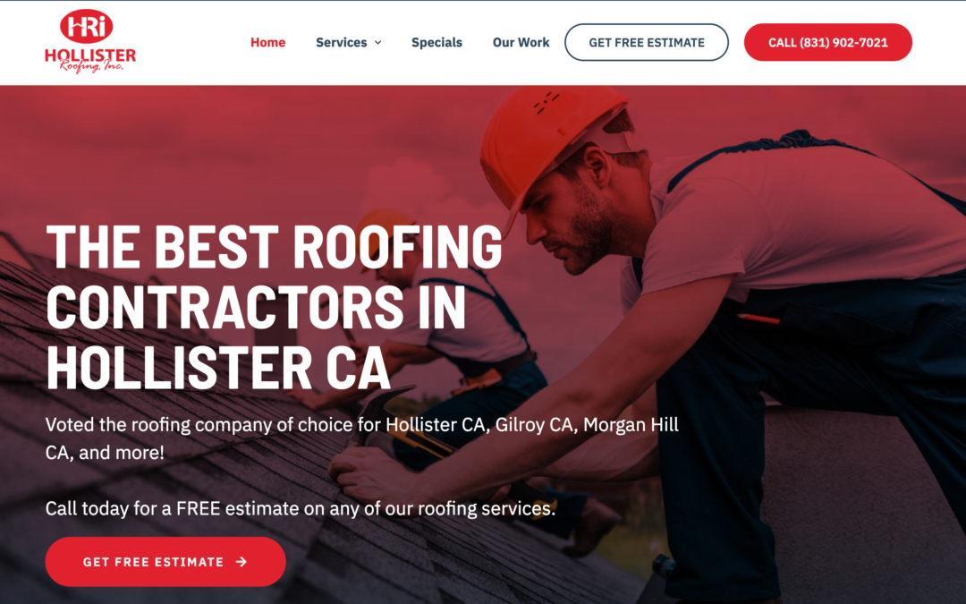 Roofing Custom Website Design