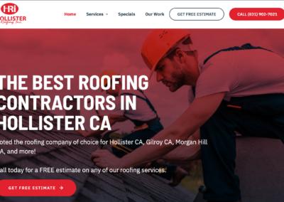 Roofing Custom Website Design