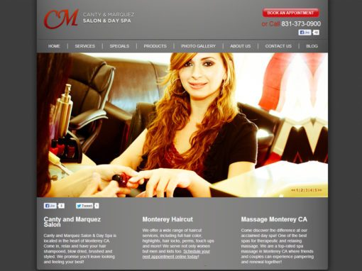 Salon Day Spa Website Design