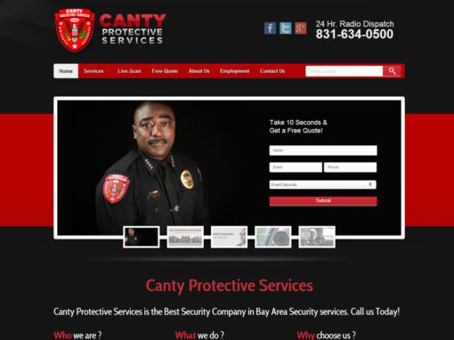 Security Company Website Design