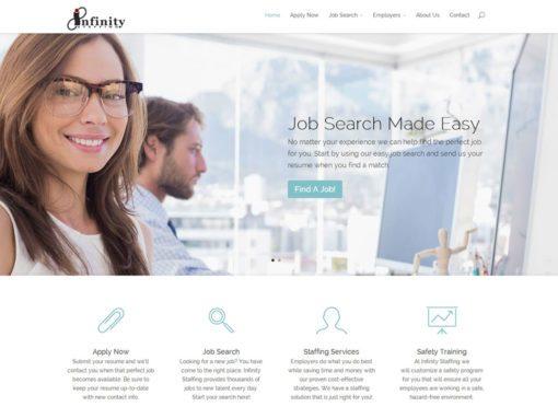 Temp Agency Website Design