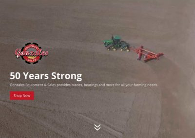 Tractor Equipment Website Design