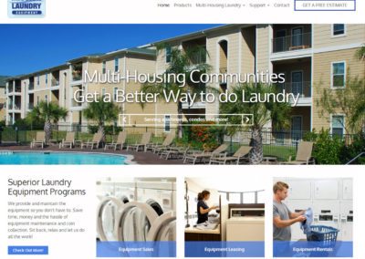 Washer Dryer Rental Website Design