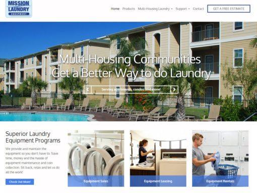 washer dryer rental website design