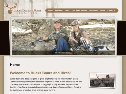 Website Design For Hunting Guides