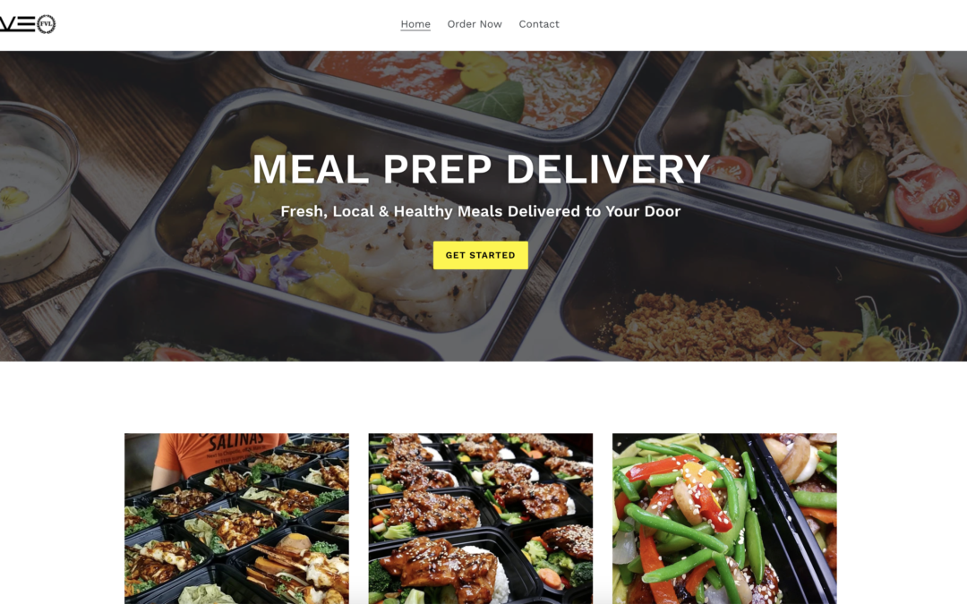 Meal Prep Food Delivery Website Design