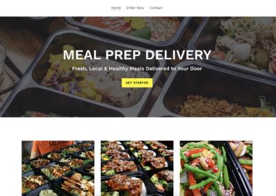 Meal Prep Food Delivery Website Design