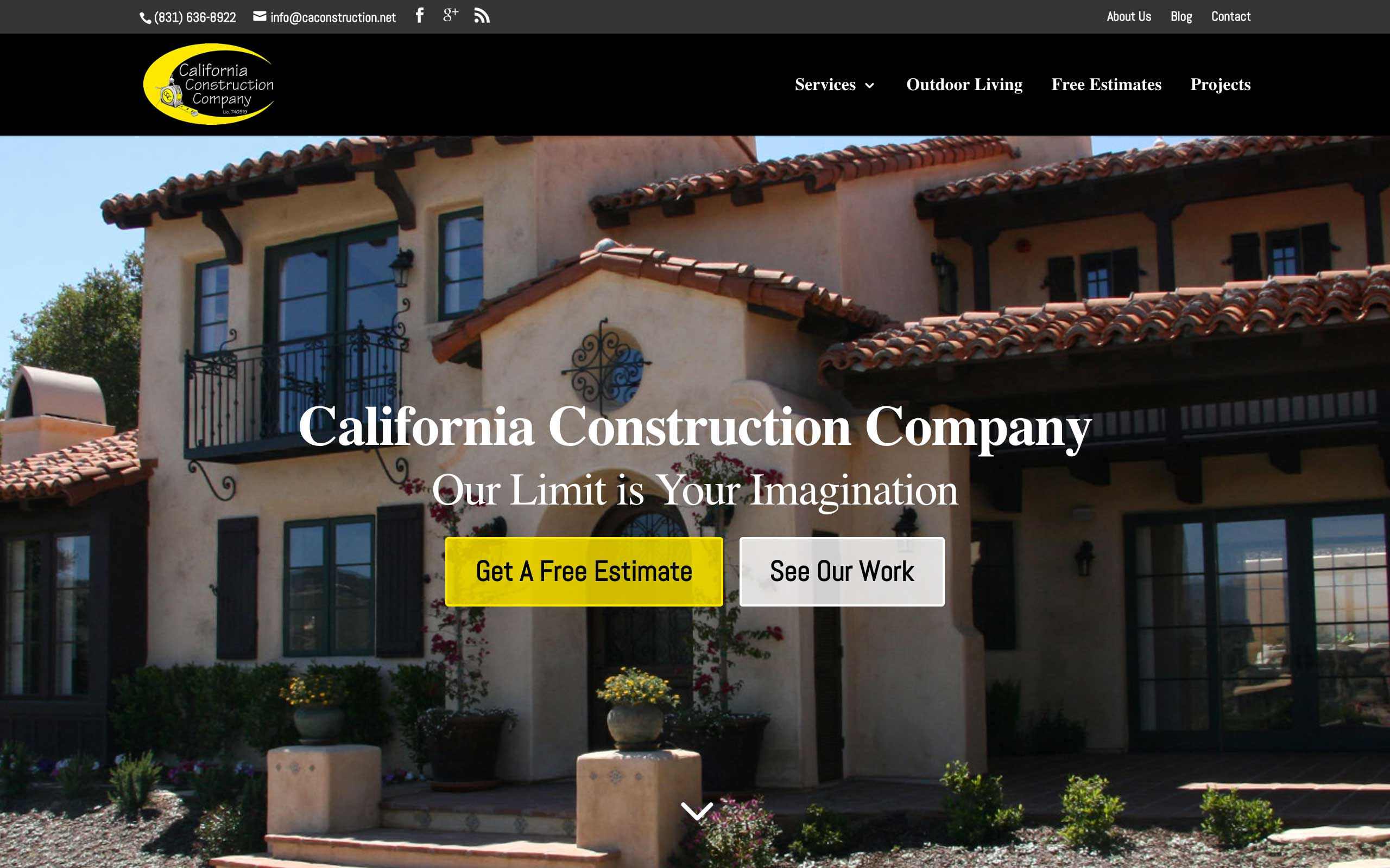 Construction Trade Services Web Design