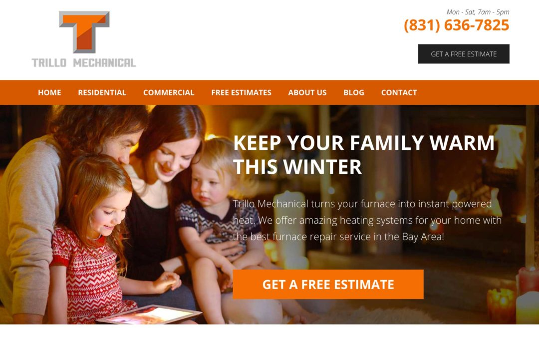Heating and Cooling HVAC Web Design