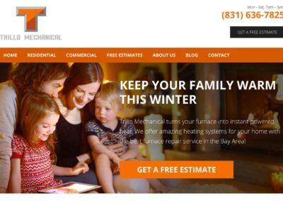 Heating and Cooling HVAC Web Design