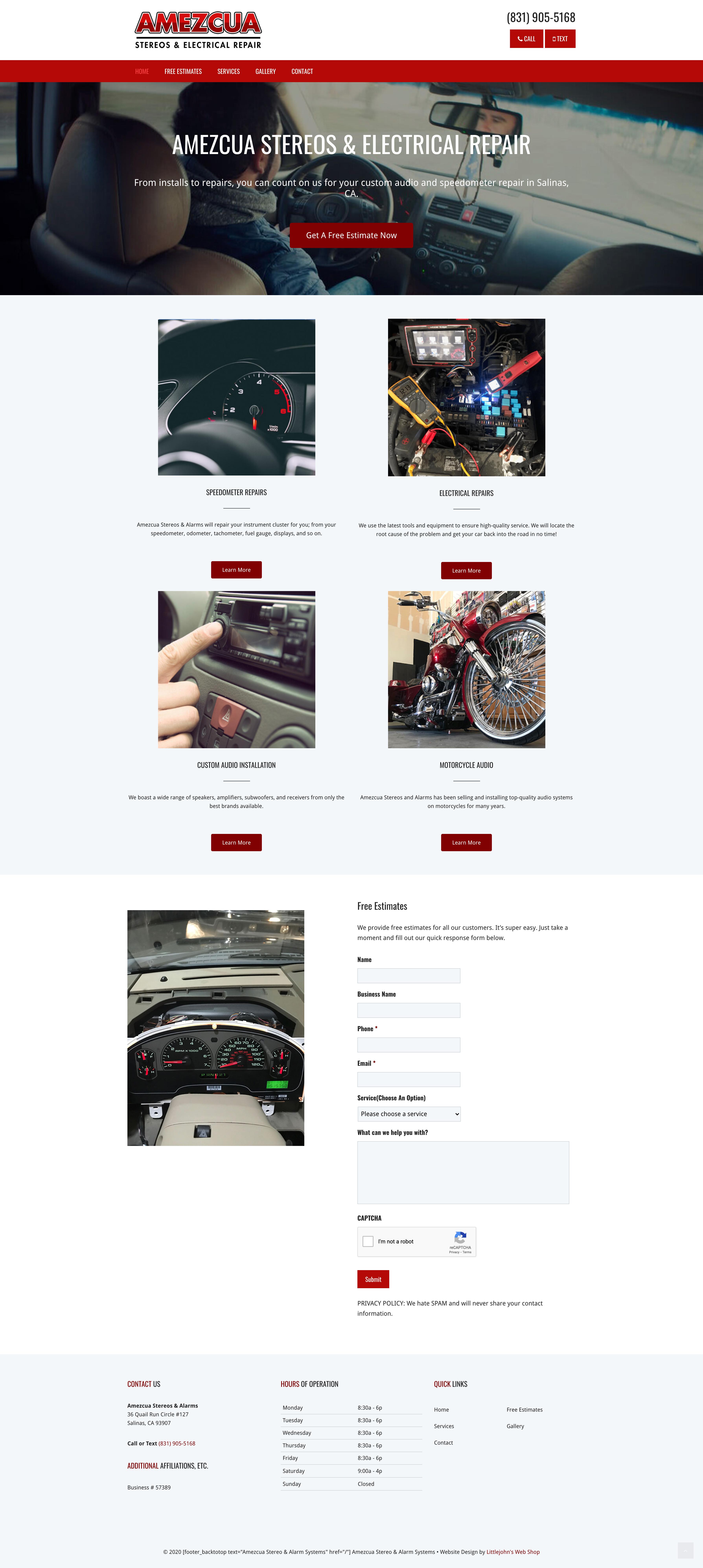 Amezcua Website Design