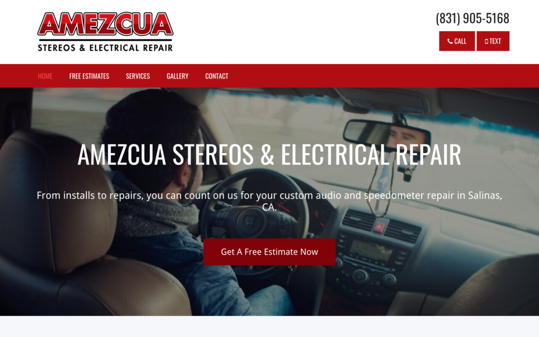 Auto Stereo Website Design