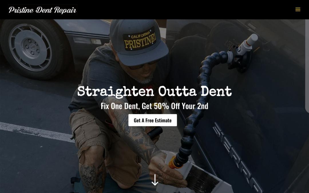 Body Shop Dent Repair Website Design