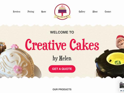 Cup Cake Bakery Website Design