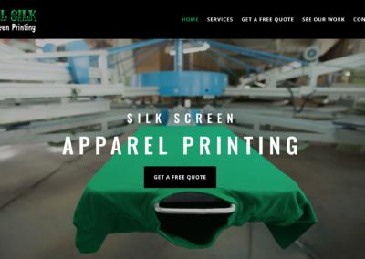 Silk Screen T Shirt Website Design