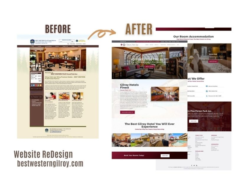web design & development company results for best western gilroy